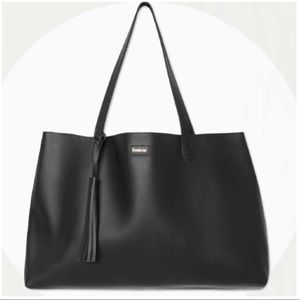 Bebe Black Vegan Leather Limited Edition Tote